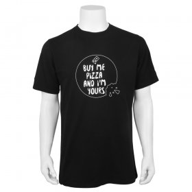 T-shirt heren - Buy me pizza and I'm yours
